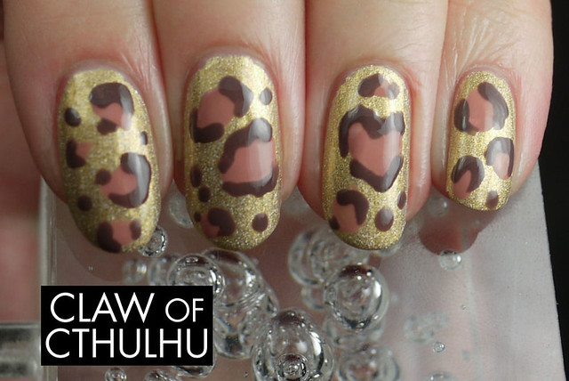 Bestie Nail Art Challenge - Week Four: Animal Print (Leopard Print Nails with Heart Feature)
