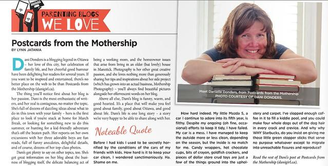 Featured in Capital Parent Newspaper