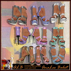 ALB SHANINI heel sandals with nail skin color HUD by AnaLee Balut