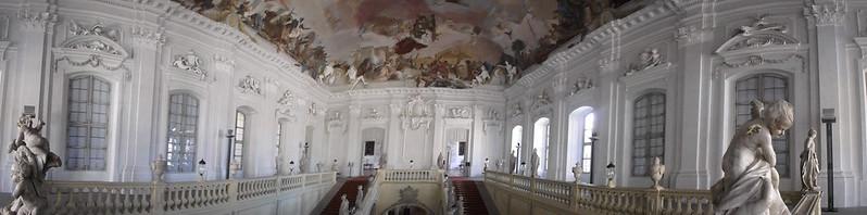 P4170198 Pano Residencia de Wurzburgo y jardines de la corte