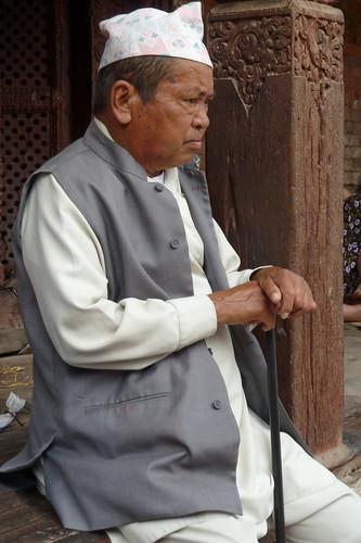 Nepal - Kathmandu - Man In Traditional Nepalese Clothing