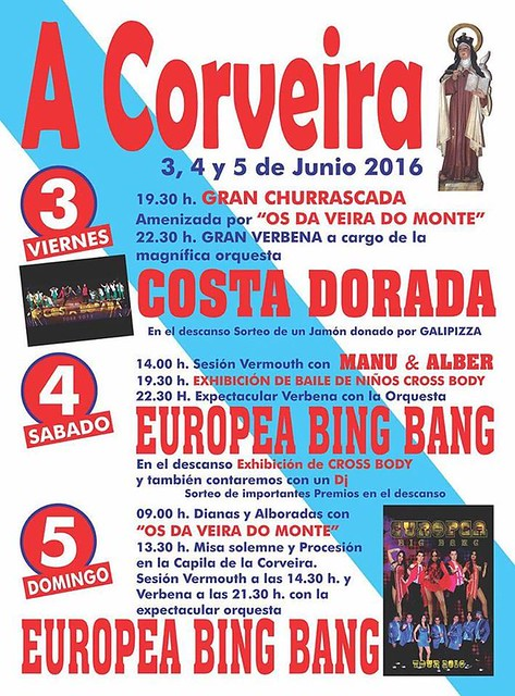 Culleredo 2016 - Festas da Corveira - cartel