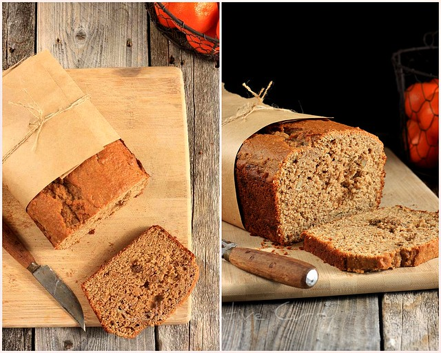 Whole Wheat Flaxmeal Banana Bread