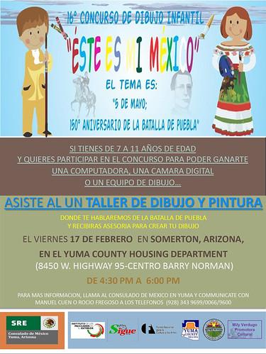Sesión de Dibujo y Pintura para el concurso Éste es mi México en Yuma