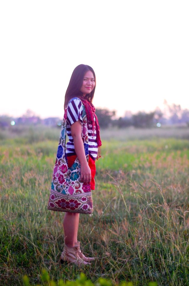 bag from baguio, denise katipunera, dyed red shorts, pinay filipina fashion blogger,