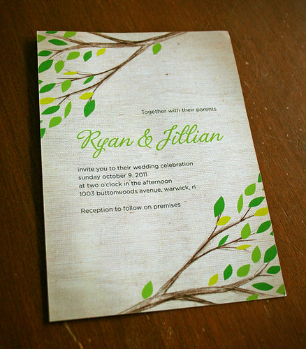 Tree Branches invitation