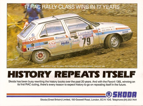 Skoda Favorit Rally Car Advert 1990