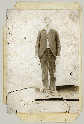 Cabinet Card man standing