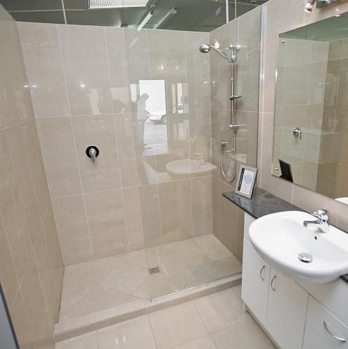 Tiled shower no door flickr photo sharing - Walk in shower no door ...