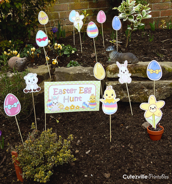Printable Easter Egg Hunt Decorations Garden Kit PDF ...