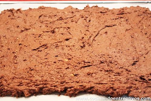 Brownie de morcilla con chutney de pimientos rojos (14)