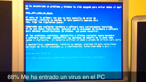 68% Me ha entrado un virus en el PC