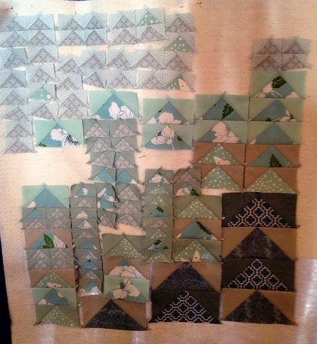 fab little quilt swap - in progress