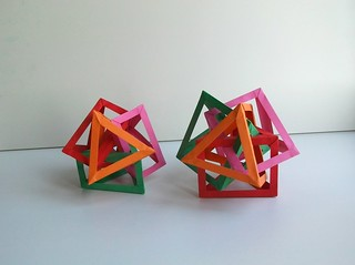 Four Interlocking Triangular Prims #1 & #2