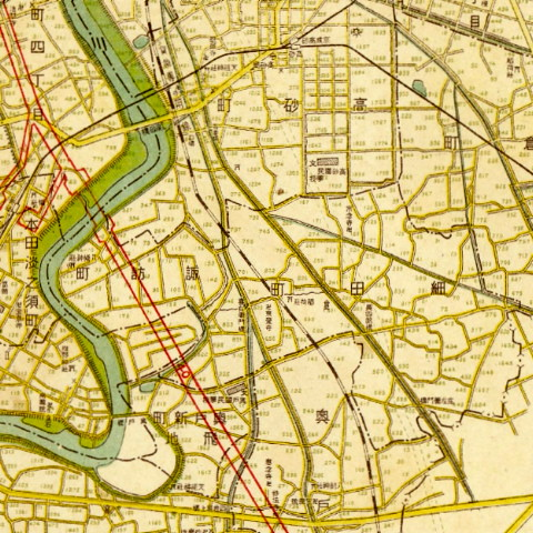 昭和22年新東京区分詳細図