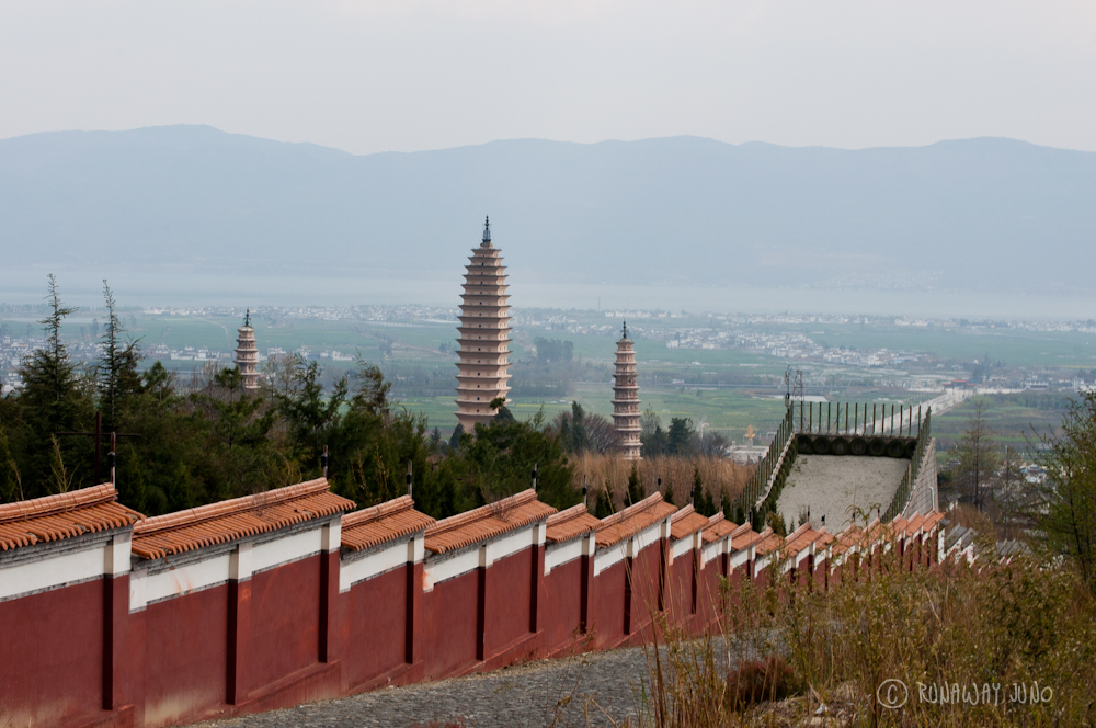 Three pagodas from top