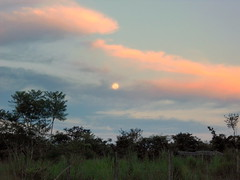 lua cheia e sunset