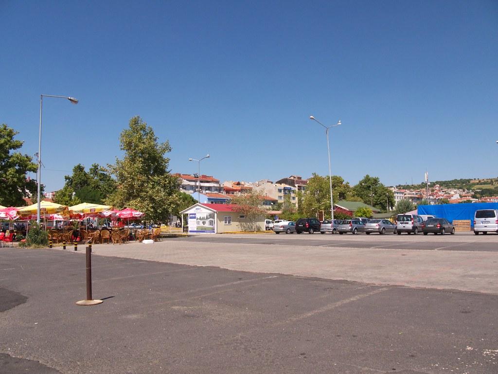 A car park in Tekirdağ near the berth