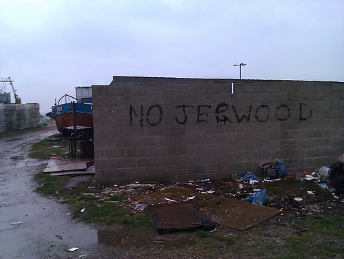 """No Jerwood"" (Jerwood gallery in Hastings)"