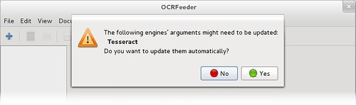 OCRFeeder warnings