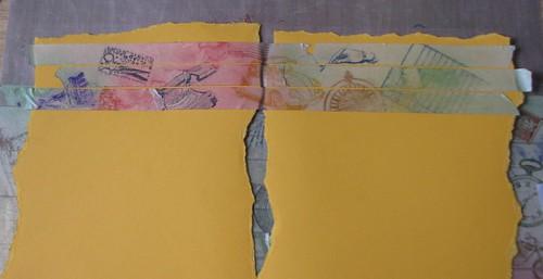 Art Journal #8 - Stamped Masking Tape 007