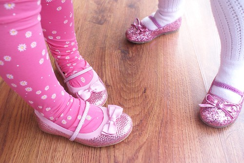 Pink glittery shoes...Yes please!