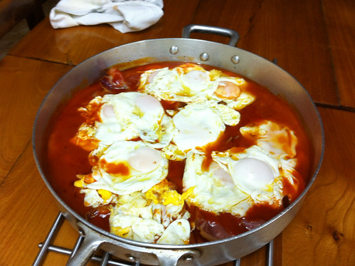 Sunday Almuerzo - Eggs and Bacon in Tomato Sauce