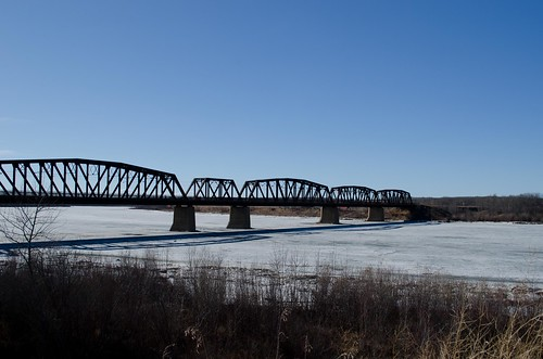 bridge ice river saskatchewan