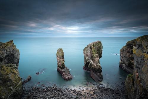 uk winter sea wales landscape coast rocks cymru cliffs pembrokeshire castlemartinrange