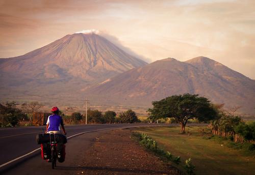 Cycling near Cerro Negro volcano, Nicaragua-