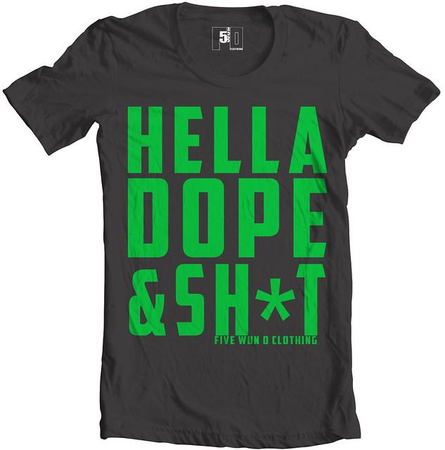 Hella Dope - Funky Green Tee Design | Flickr - Photo Sharing!