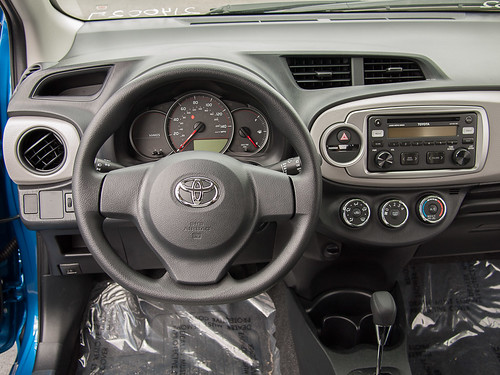 Blue 2012 Yaris Interior Driver Side