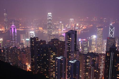 Hong Kong harbor from the Peak