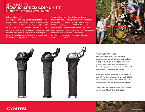 2013 SRAM GRIP SHIFT