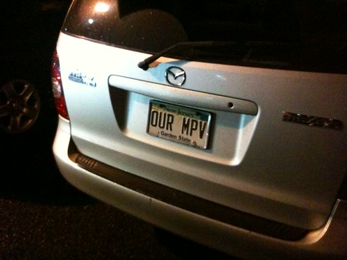 """Our MPV"" vanity plate"