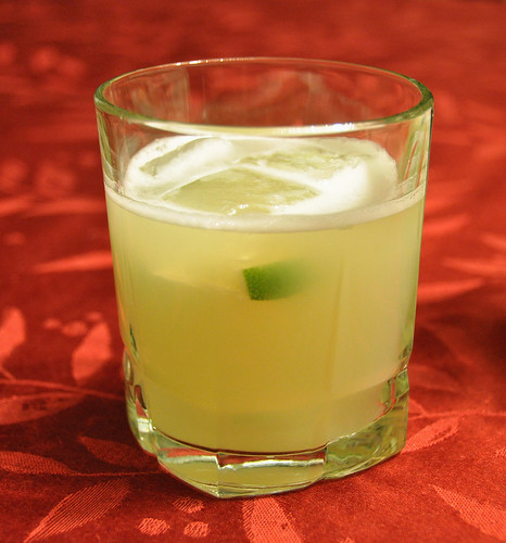 Margaritas with Lime Ice Cubes
