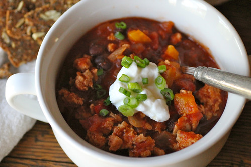 Turkey chili with sweet peppers