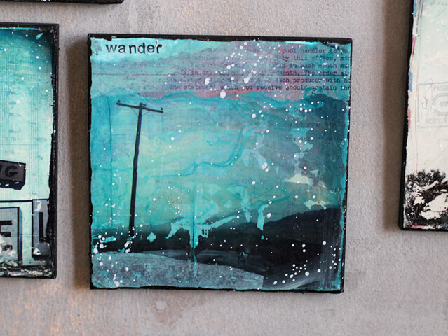 wander - a small mixed media piece