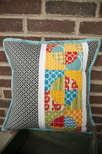 Finished Pillow for Pillow Talk Swap 7