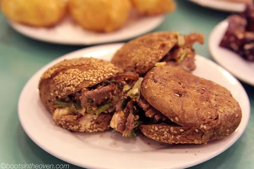 Shaobing Jiarou - roasted beef in sesame buns