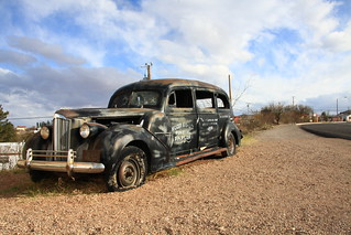 1938 Packard Funeral car at Tombstone, Arizona