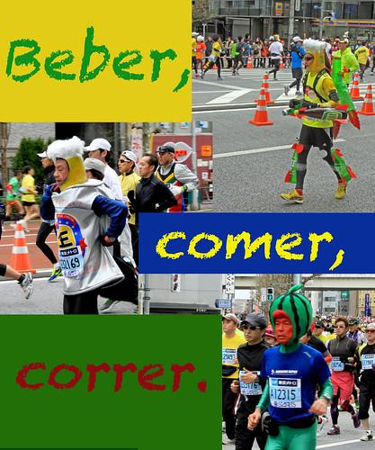 Beber comer correr