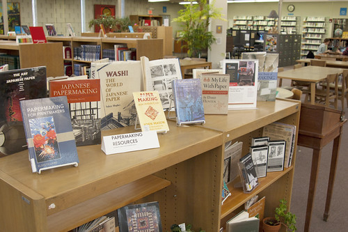 Library Display: Papermaking by MCAD Library
