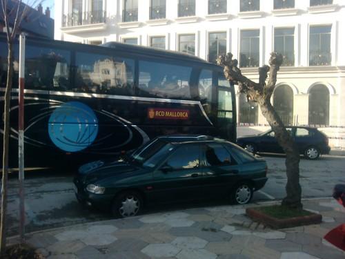 Rcd Mallorca bus leaves for el Sardinero by simonharrisbcn