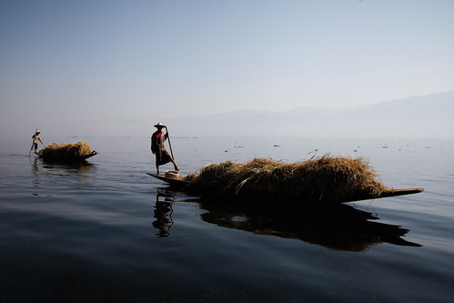 Farmers on Inle Lake