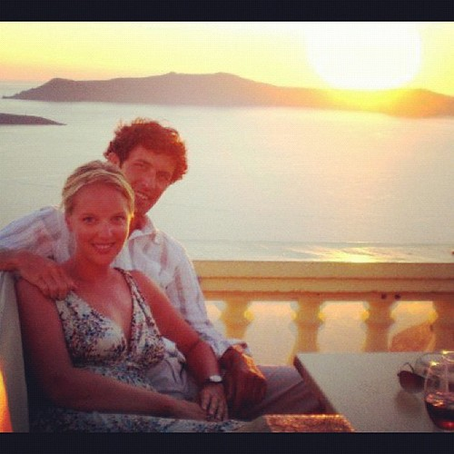 One of my very favorite photos... #sunset over Fira #aprilphotoaday #catchup {day 15}