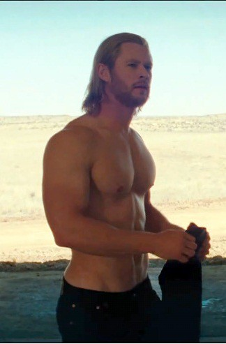 Chris Hemsworth Shirtless (Thor) Take me Thors Hammer, ehmn, oops, just Thor! I didn't steal it! The Hammer I mean!