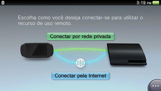 Uso remoto no PS Vita