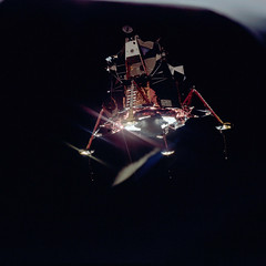 Apollo 11 Mission image - View of Lunar Module separation from the Command Module