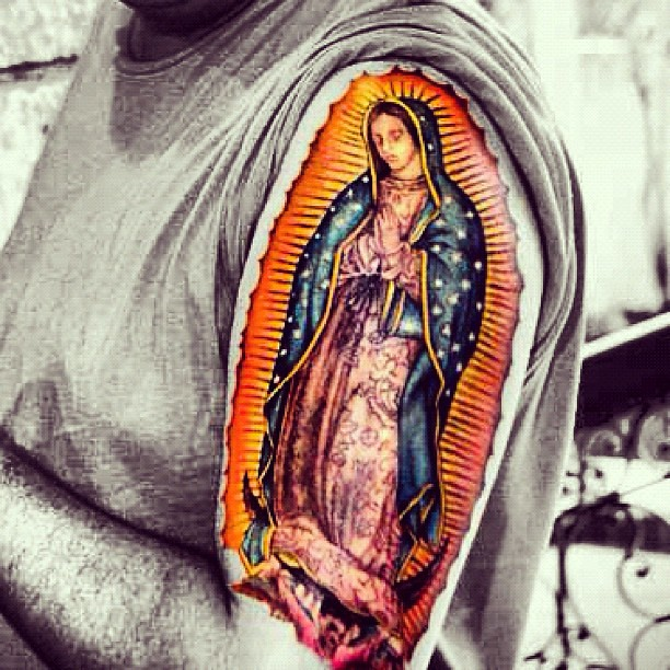 Virgin Mary Of Guadalupe >> Guadalupe #tattoo #iphoneography #picoftheday | Explore cobo… | Flickr - Photo Sharing!